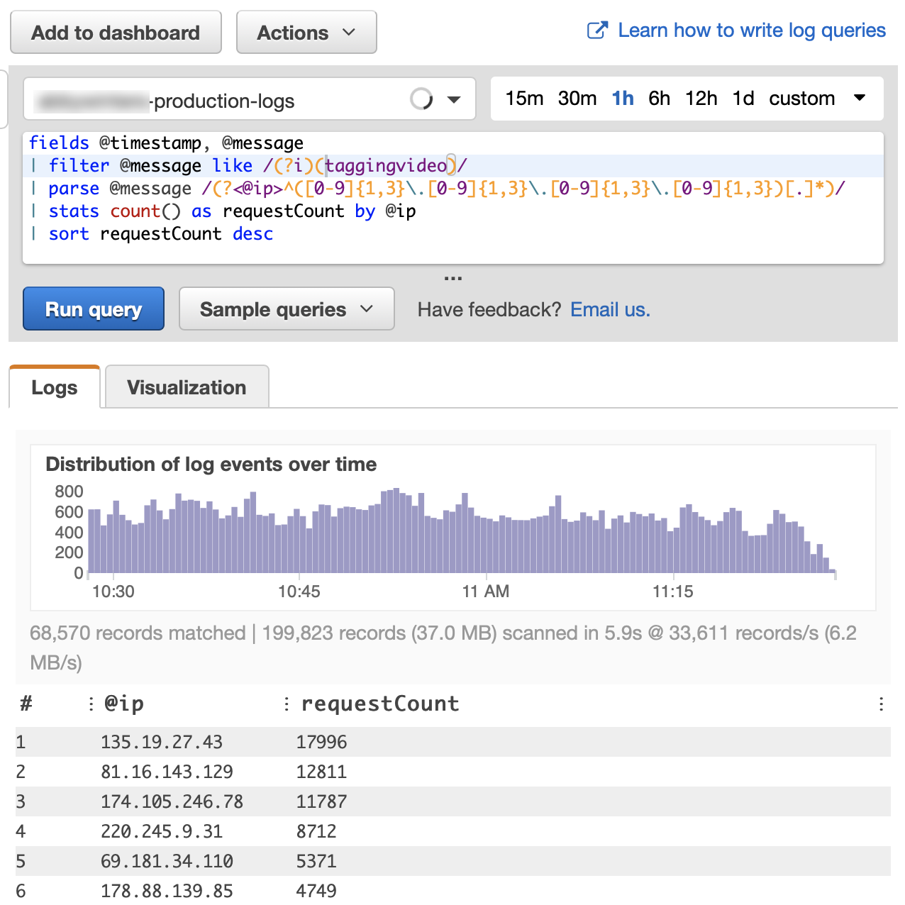 Automato - Finding bad guys using AWS CloudWatch Logs Insights